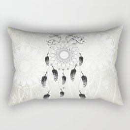 Dreamcatcher in black and white Rectangular Pillow