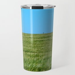 Lighthouse and the Crop Field Travel Mug