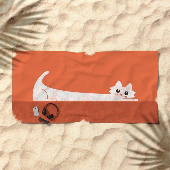 Mark's Superpower: cat Superstretch Beach Towel