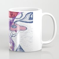 friday Mugs featuring Friday by Andon Georgiev