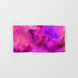 Abstract Pour Art - Pink and Purple Hand & Bath Towel