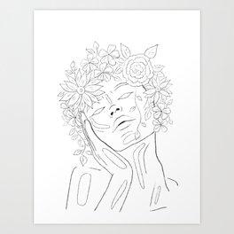 Flower lover Art Print