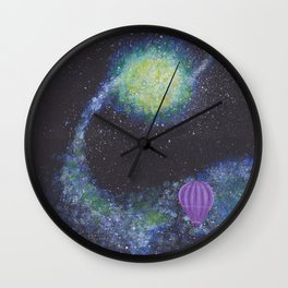 Hot air balloon Galactic Adventure Wall Clock
