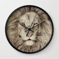 leo Wall Clocks featuring Leo by Eric Fan