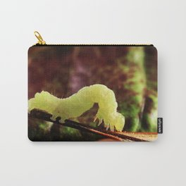 Cool Close-up Garden Green Inchworm And Its Looping Gait Carry-All Pouch