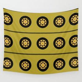 Black sun band Wall Tapestry