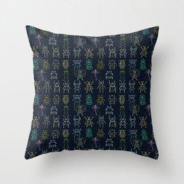 Bug Collection Throw Pillow