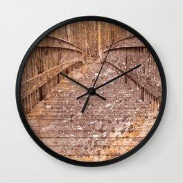 Acrylic Sepia Bridge Wall Clock