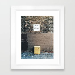Garbage Can for Residents Only Framed Art Print