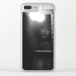deeply emotional woman Clear iPhone Case