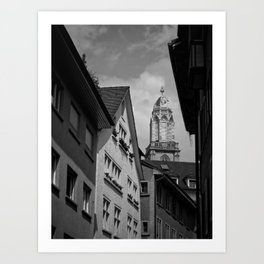Zurich grouds eye Art Print