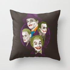 The Jokers Throw Pillow
