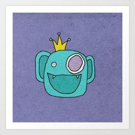 Slightly Amused Monsters, XIV Aquamarine Art Print