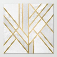 deco Canvas Prints featuring Art Deco Geometry 2 by Elisabeth Fredriksson