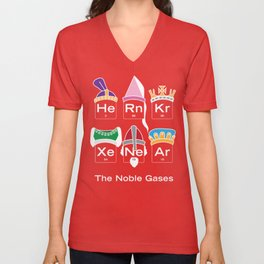 The Noble Gases, Funny Nerdy Periodic Table Unisex V-Neck