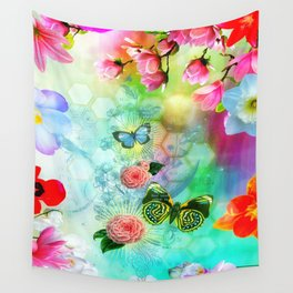 Floral Fantasy 9 Wall Tapestry