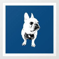 George the cutest French Bulldog Art Print