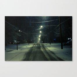 Stormy Winter Canvas Print