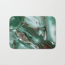 Luxury Malachite Marble Agate Bath Mat