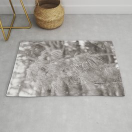 Snowing in the Woods Rug