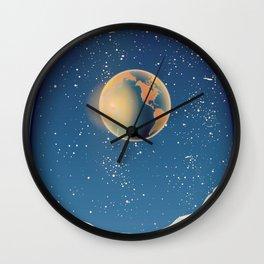Moonbase Wall Clock