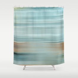 Life (Aqua and Burnt Rose) Shower Curtain