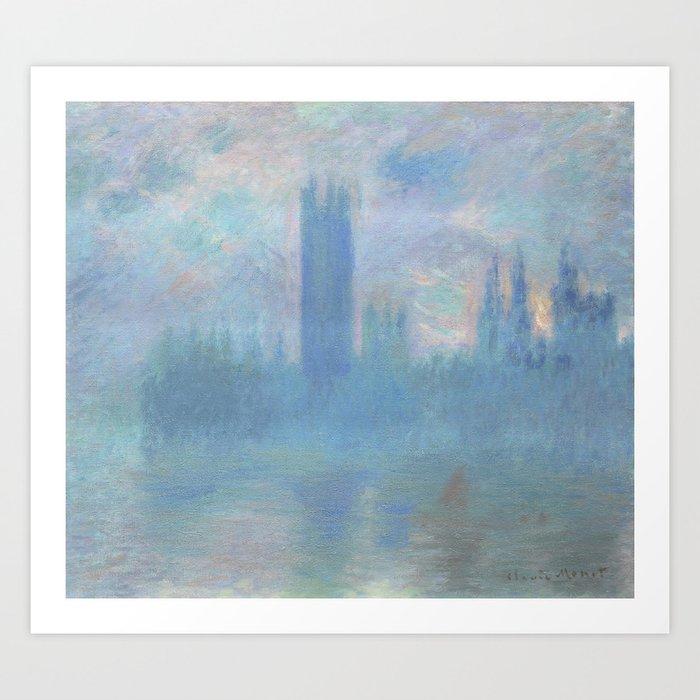 Monet, The Houses of Parliament, London, 1900-1093 Art Print