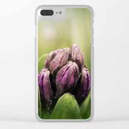 Hyacinths in Dew Clear iPhone Case