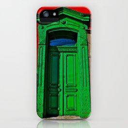 The Old Green Door  iPhone Case