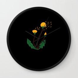 Dandelion Floral print bohemian Wall Clock