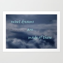 goose dreams Art Print