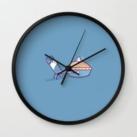 pie Wall Clocks featuring Cream pie by Randyotter