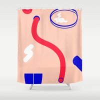 chemistry Shower Curtains featuring chemistry by HLL YS