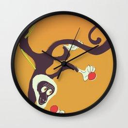 Caribbean Monkey vintage art. Wall Clock