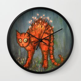 Midnight Adventures with Luna Wall Clock