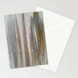 Gold and Silver Deluge Stationery Cards