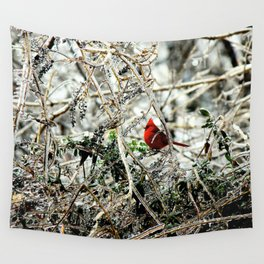 Pop of Cardinal Wall Tapestry