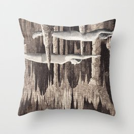 stalagmites Throw Pillow