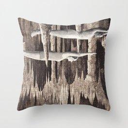 stalagmites Throw Pillow