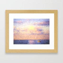 Hawks Nest Sunset Framed Art Print
