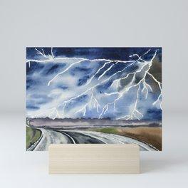 Thunderstorm en route Mini Art Print