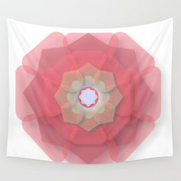 Pink Floral Meditation Wall Tapestry