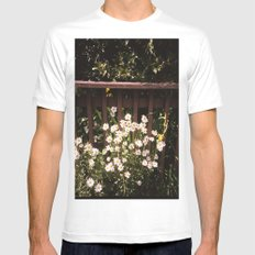 daisy White MEDIUM Mens Fitted Tee