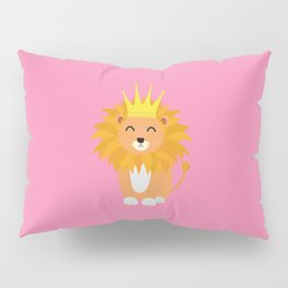 Lion with Crown King T-Shirt for all Ages Dh832 Pillow Sham
