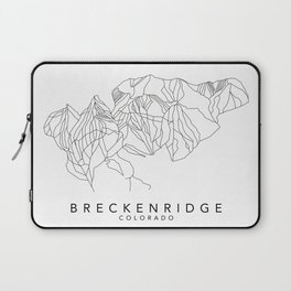 BRECKENRIDGE // Colorado Trail Map Black and White Lines Minimalist Ski & Snowboard Illustration Laptop Sleeve