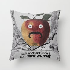 mr manzana Throw Pillow