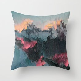 Glitched Landscapes Collection #1 Throw Pillow