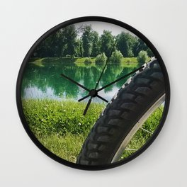 Nice day for a ride Wall Clock