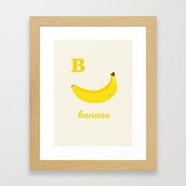 B is for banana Framed Art Print