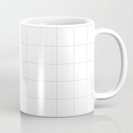 Peach Grid Coffee Mug